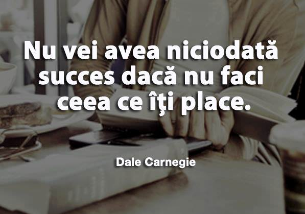 Fa ce iti place si o sa ai succes!